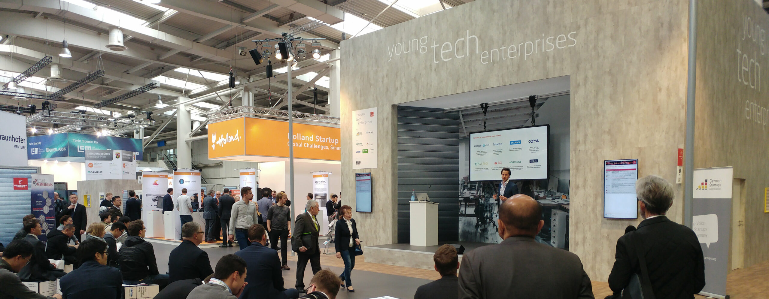 "Startup-Forum ""young tech enterprises"" auf der HANNOVER MESSE 2018"