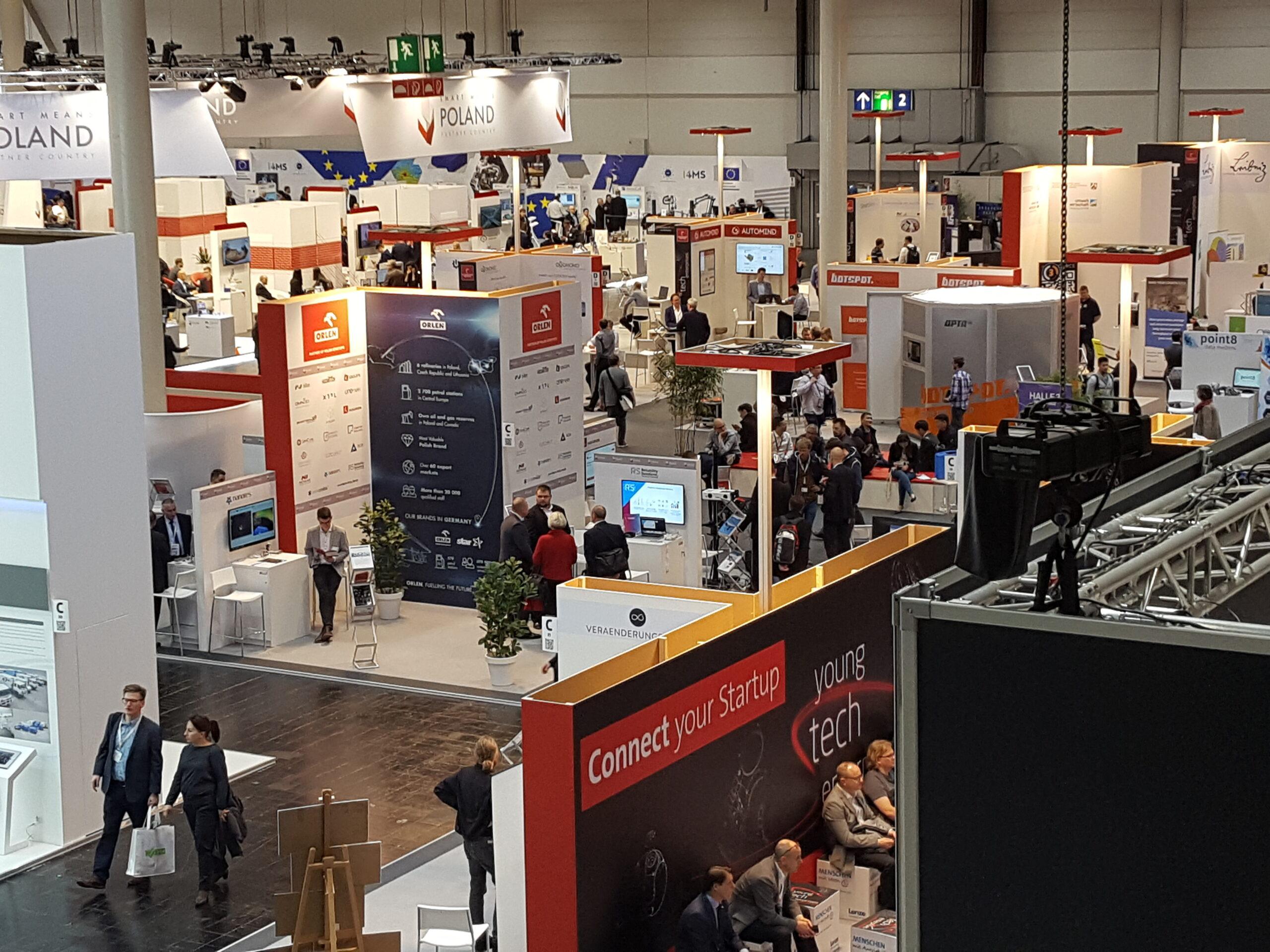 Das Gelände der young tech enterprises auf der Hannover Messe