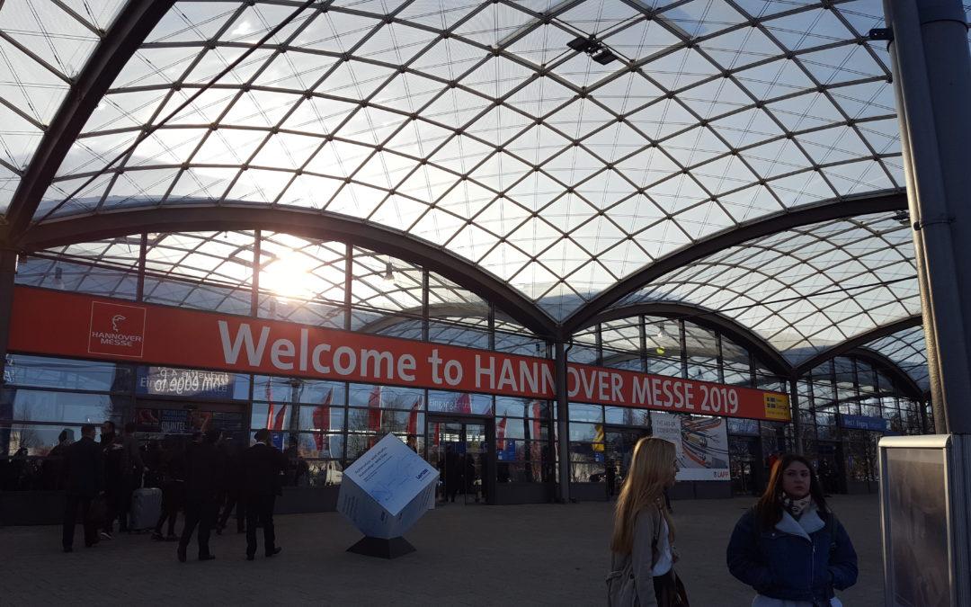 Blick auf den Eingangsbereich der Hannover Messe 2019
