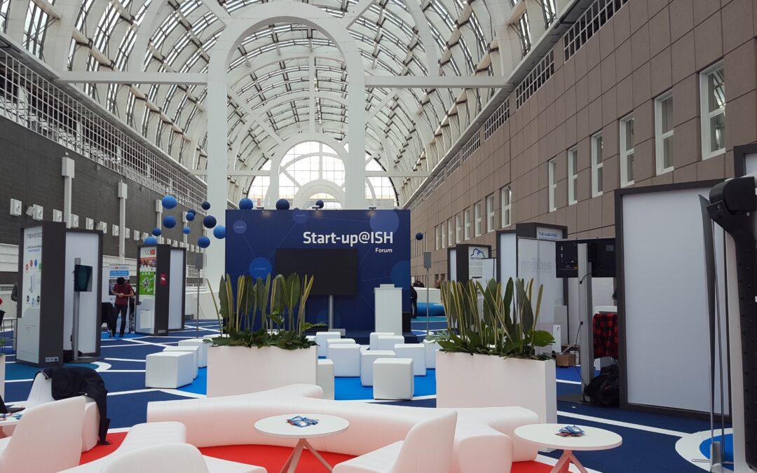Bühne bei der Start-up@ISH