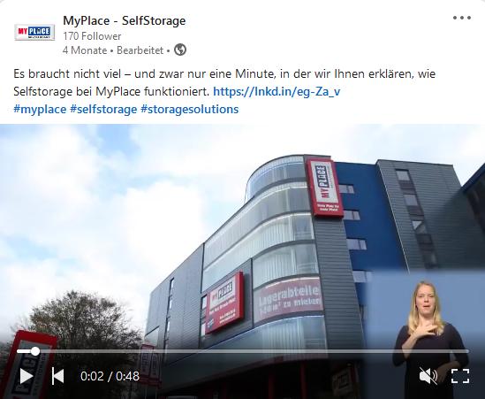 Erklärvideo für MyPlace